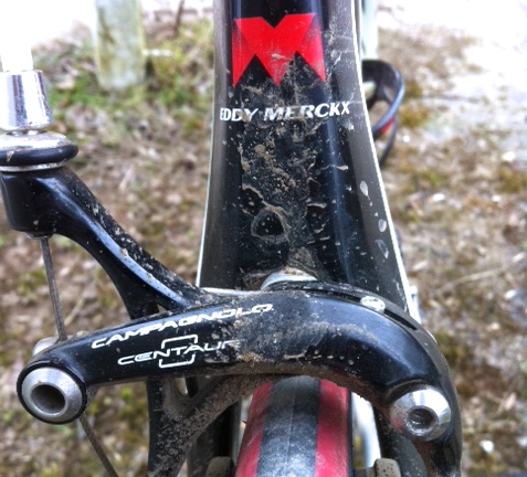The nice bike received some winter abuse today