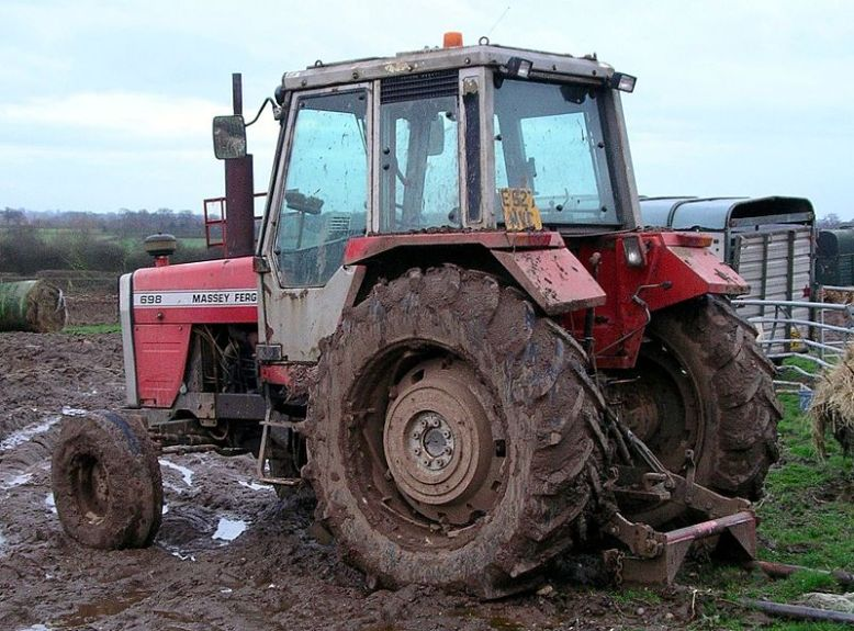 Tractor Factor. Get overtaken and get covered in mud