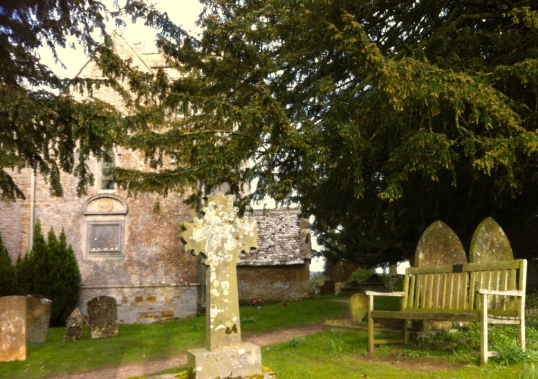Stopping for a rest by a peaceful 11th Century church in Lower Oddington
