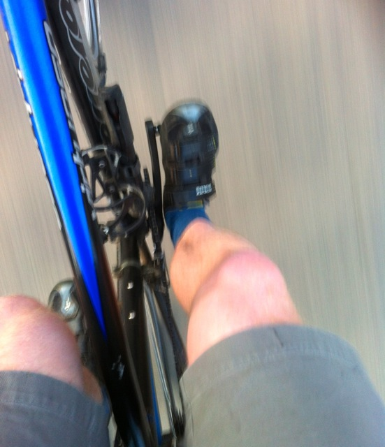 """Oh my god he's cycling a road bike in normal socks and shorts!"""