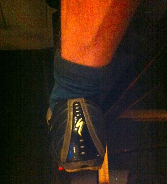 Black cycling shoes are good for incognito pub crawls