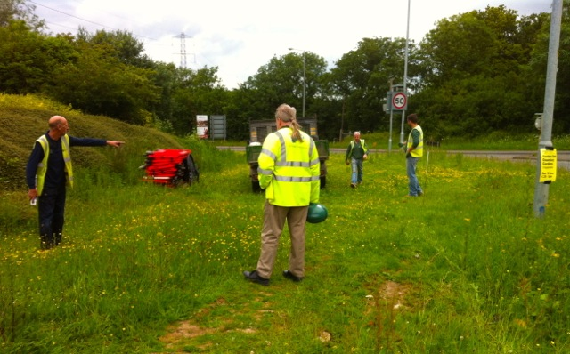 Initial site meeting with the contractor and local highways inspector