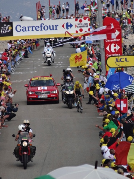 Chris Froome was the first rider to appear