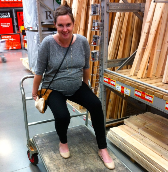 Step 1 - transport pregnant wife around builders merchants to select materials
