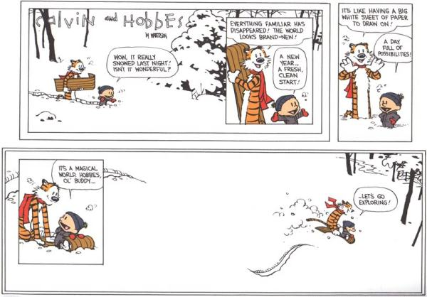 Calvin and Hobbes - Let's go exploring