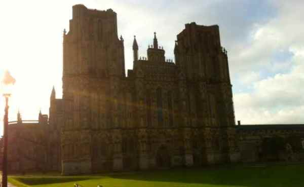 A bad picture of Wells Cathedral