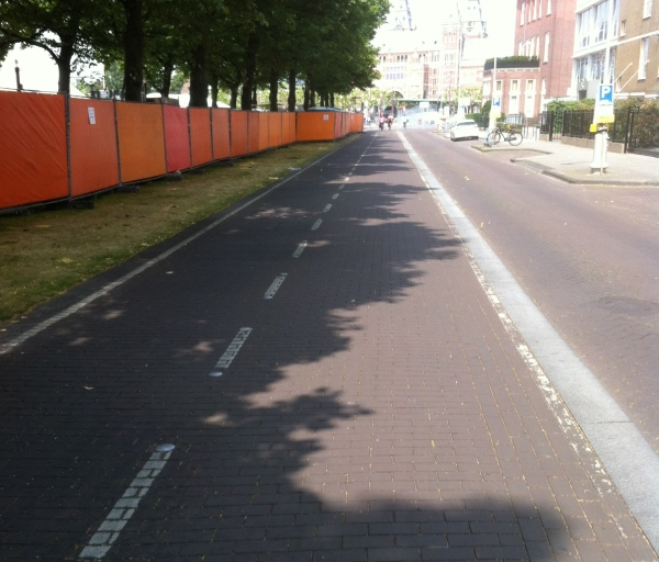 Dedicated bike lanes