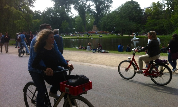 Cycling around Vondelpark