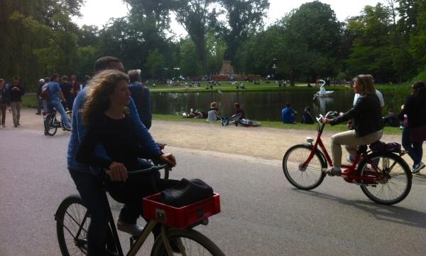 Cycling around Vondelpark